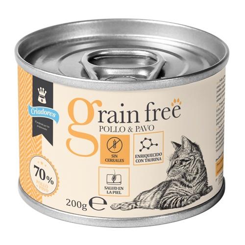 Criadores Grain Free húmido Frango e peru para gatos