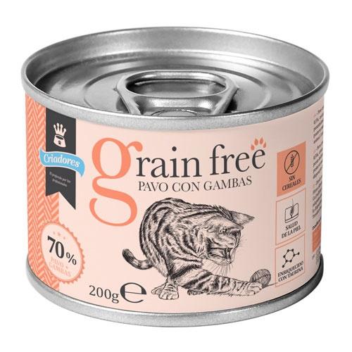 Criadores Grain Free húmido Peru com camarão para gatos