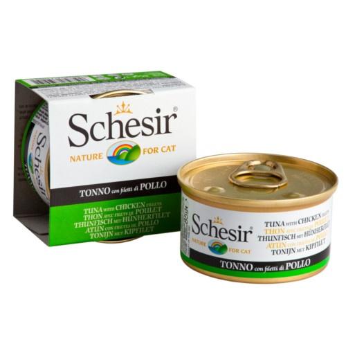 Comida húmida Schesir atum com frango