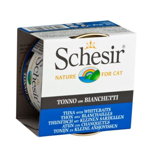 Comida húmida Schesir atum com peixe miúdo
