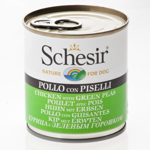 Comida húmida Schesir frango com ervilhas