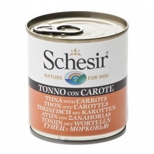 Comida húmida Schesir atum com cenouras