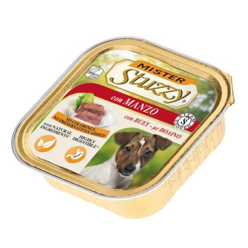 Comida húmida para cães Mister Stuzzy carne de vaca