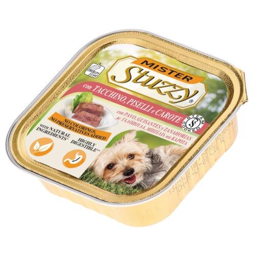 Comida húmida Mister Stuzzy peru com ervilhas e cenouras