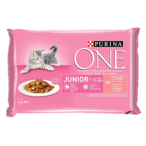 Purina One Junior Salmão em molho