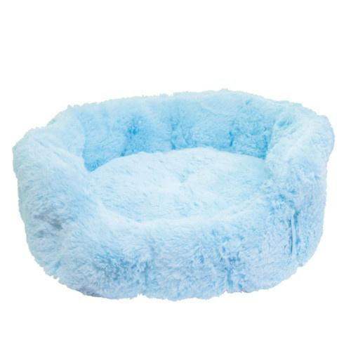 Berço redondo suave azul