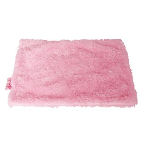 Manta suave para cães e gatos cor-de-rosa
