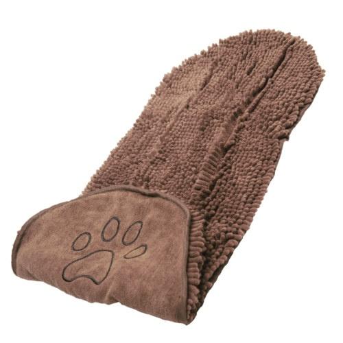 Toalha de microfibra para cães e gatos castanha
