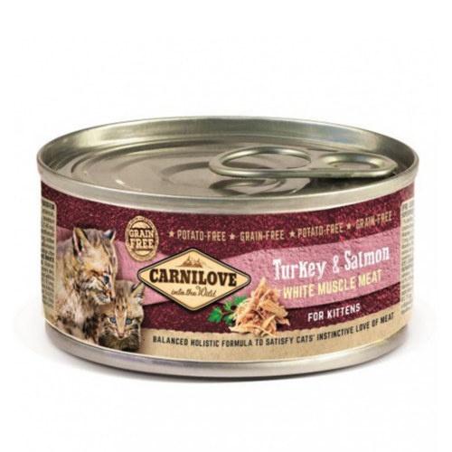 Comida húmida Carnilove Turkey & Salmon gatinhos