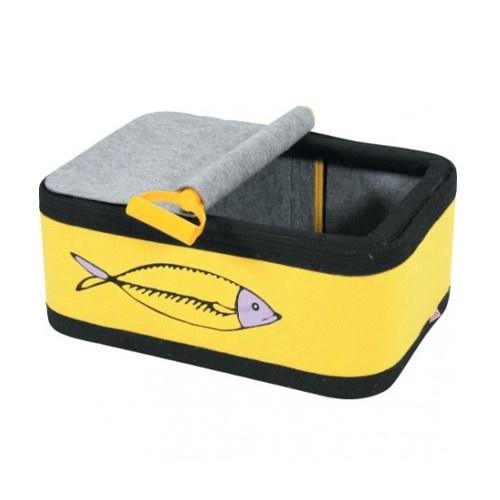 Cama lata de sardinhas para gatos