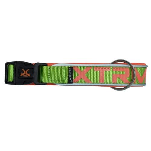 Coleira de nylon X-TRM Neon Flash verde