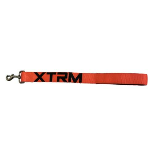Trela curta de nylon X-TRM Neon Flash laranja