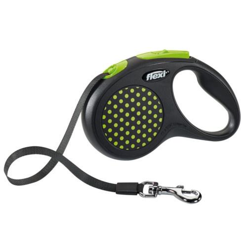 Flexi Design trela extensível de fita verde