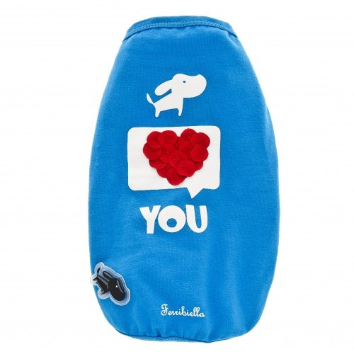 T-shirt I love you para cães