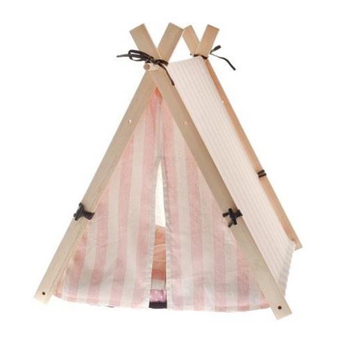 Tenda de campismo Teepee Happy cor-de-rosa