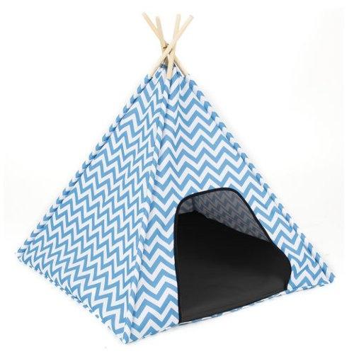 Tenda de campismo Zigo-zago azul