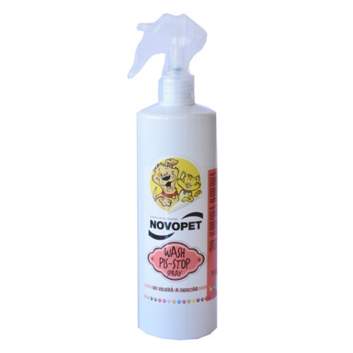 Spray Novopet Wash Pis-Stop para cães e gatos