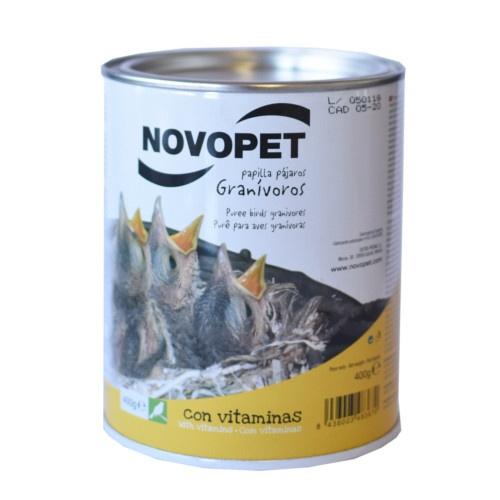 Papa para pássaros granívoros Novopet