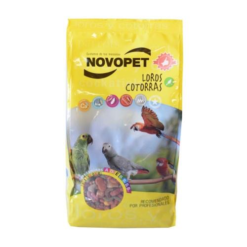 Ração para papagaios e catorras Novopet
