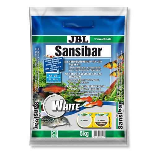 Substrato natural areia branca JBL Sansibar