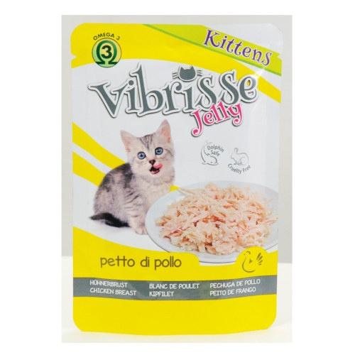 Vibrisse Jelly Kittens peito de frango em gelatina