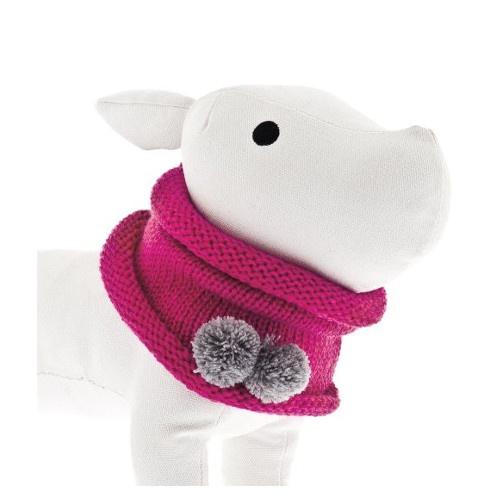 Cachecol circular para cães cor-de-rosa