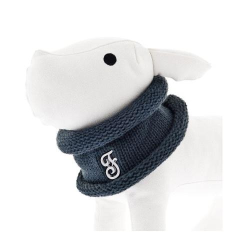 Cachecol circular para cães azul