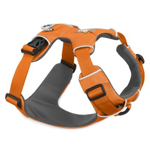 Peitoral Ruffwear Front Range para cães laranja