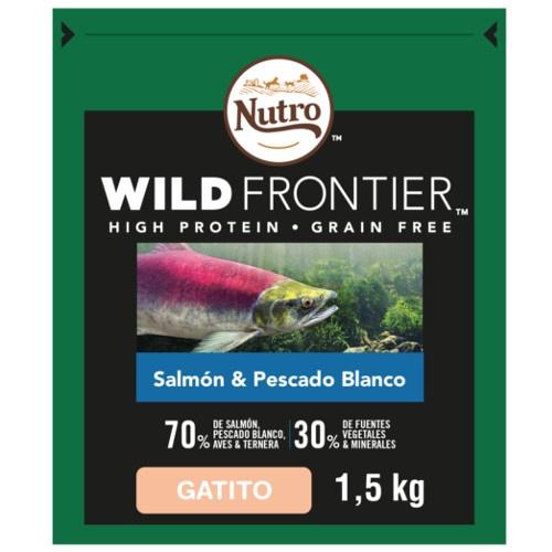 Nutro Wild Frontier Junior Salmão e Peixe para gatos