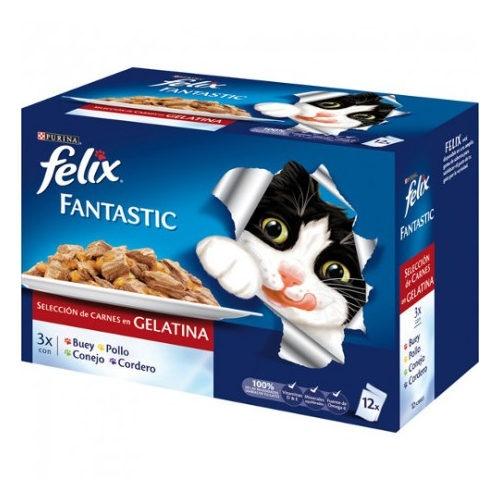 Felix Fantastic Multipack de Carnes em gelatina