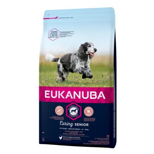 Ração Eukanuba Senior para cães médios