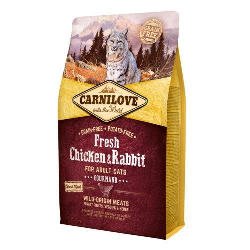 Ração Carnilove Chicken & Rabbit para gatos