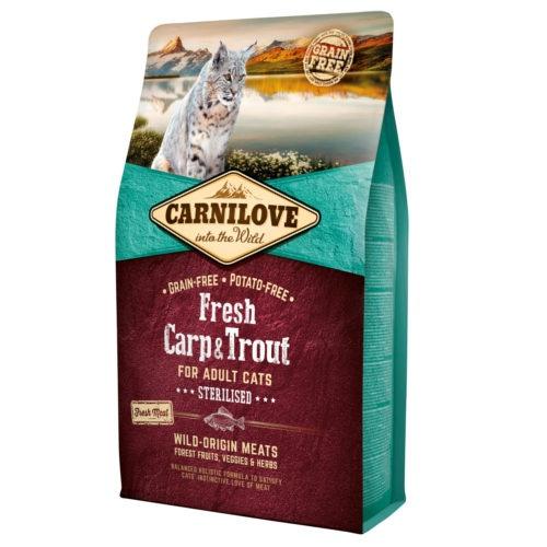 Ração Carnilove Carp & Trout Sterilised para gatos