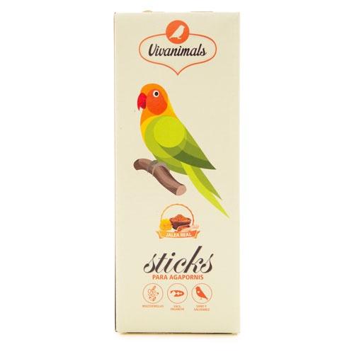 Barritas para pássaros-do-amor Vivanimals Sticks Geleia real