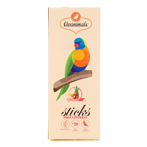 Barritas para caturras Vivanimals Sticks Fruta