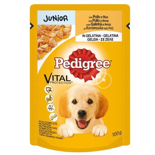Multipack Pedigree Junior Frango, carne de vaca e arroz