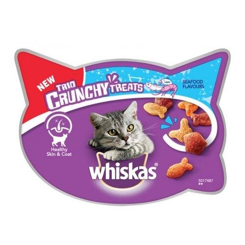 Whiskas Trio Crunchy Treats sabor peixe