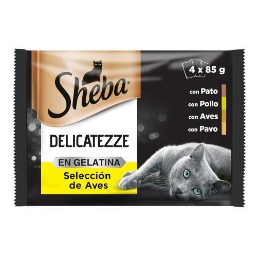 Sheba Delicato Seleção de Aves em gelatina