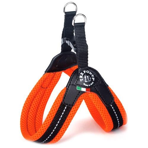 Peitoral acolchoado para cães Tre Ponti laranja