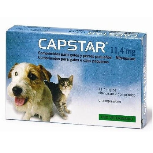 Tratamento Antipulgas Capstar para cães e gatos