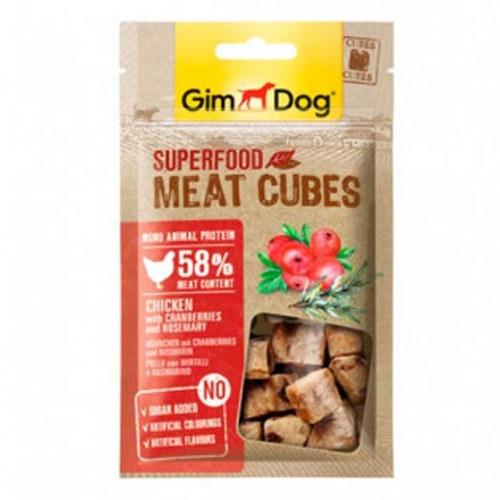GimDog Cubes Frango com mirtilos e alecrim