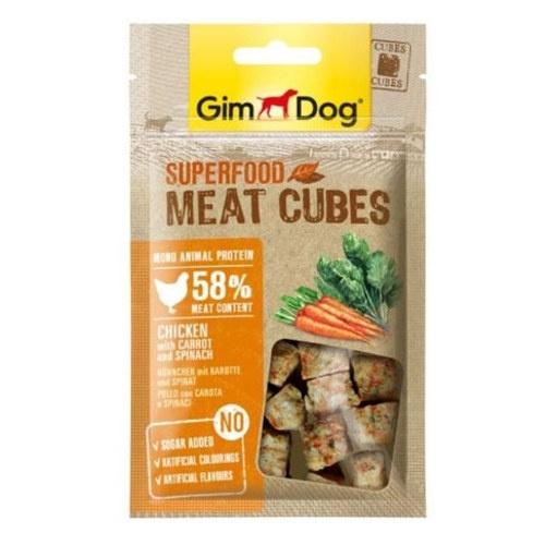 GimDog Cubes Frango com cenoura e espinafres