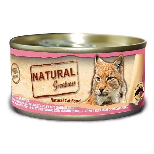 Natural Greatness Atum e camarão para gatos