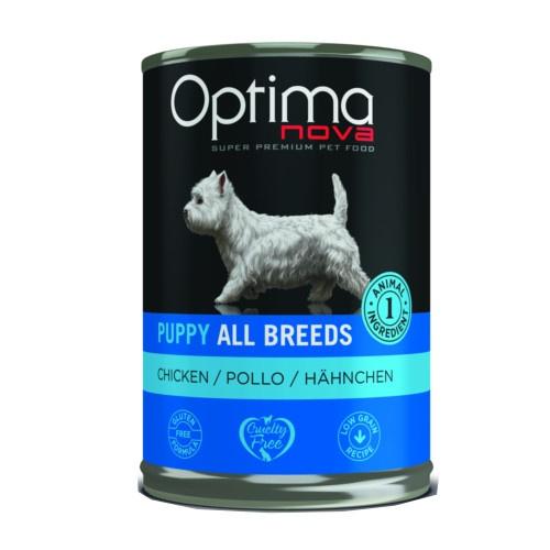 Comida húmida Optima Nova Puppy Frango