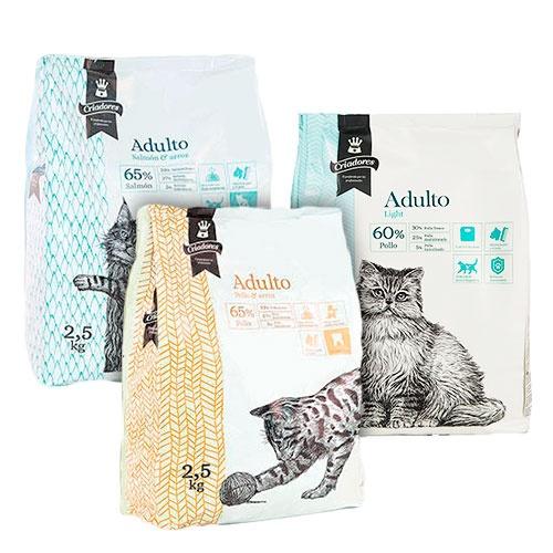 Kit Degustação ração Criadores para gatos