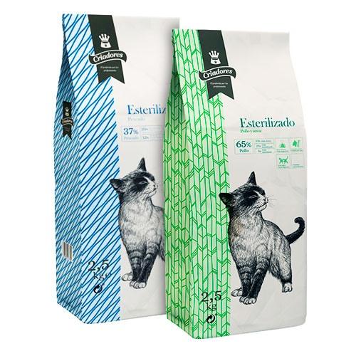 Kit Degustação ração Criadores para gatos esterilizados