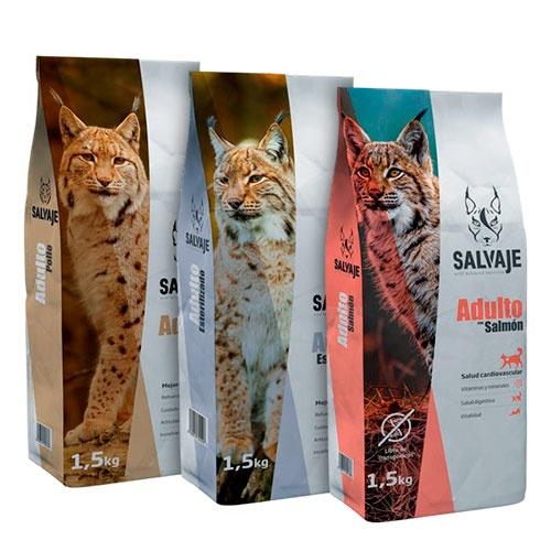 Kit Degustação ração Salvaje para gatos