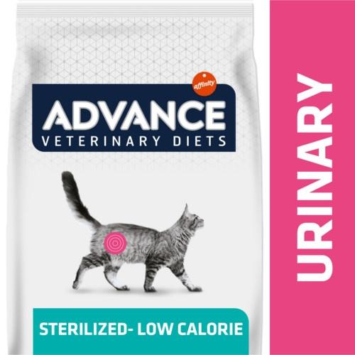 Ração Advance Urinary Sterilized - Low Calorie para gatos