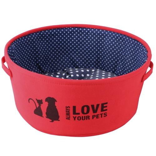 Berço para cães e gatos Always Love vermelho