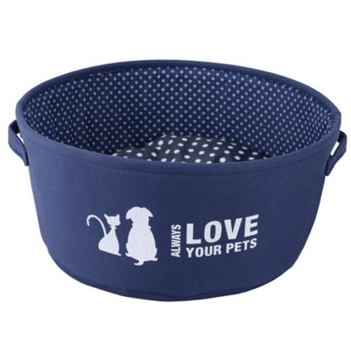Berço para cães e gatos Always Love azul